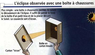 Regarder l'éclipse sans lunettes, c'est possible!